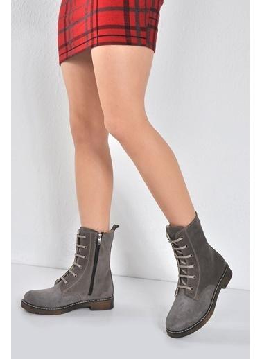 Vizon Ayakkabı Bot Füme